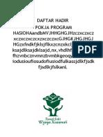 Daftar Hadir Program Nasional
