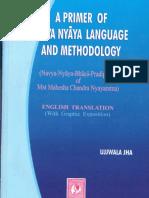 Brief Notes on Nyaya on Modern Nyaya System of Philosophy an Its Technical Terms Navya Nyaya Mahesa Chandra