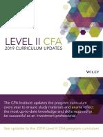 CFA L2 2019 Changes