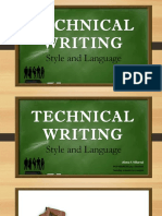 Technical Writing - Style and Language - Villareal Alona F.