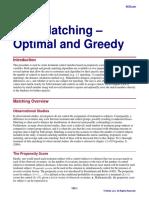Data Matching - Optimal and Greedy