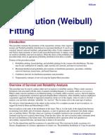 Distribution (Weibull) Fitting