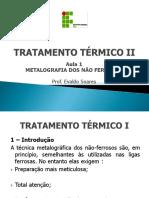 TT II - Aula 1 Metalografia Dos N-ferrosos