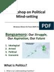 Workshop on Political Mindsetting