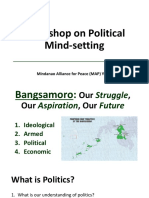 Workshop on Political Mindsetting