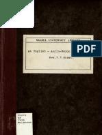 An English - Anglo-Saxon Vocabulary (Rev. Walter W. Skeat 1879, Repr. 1935)