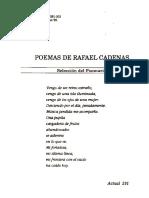 Poemas de Rafael Cadenas