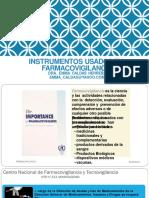 01.- Instrumentos Usados en Farmacovigilancia