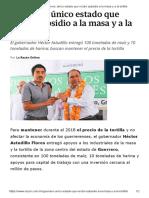 19-03-2018 Guerrero, Único Estado Que Recibe Subsidio a La Masa y a La Tortilla.