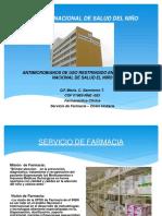 05.- Antimicrobianos de Uso Restringido en El Instituto Nacional