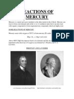 Reactions of Mercury