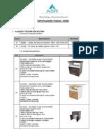 Nº 1585 Especificaciones Tecnicas de Muebles - HTF