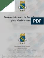 Desenvolvimento de Embalagens Para Medicamentos