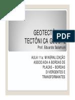 AULA 5 Mineralizações e a Tectonica
