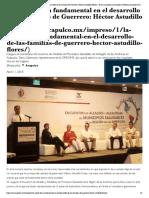 11-02-2018 La Salud, Tema Fundamental en El Desarrollo de Las Familias de Guerrero.