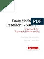 Basic Marketing Research Vol 1