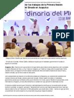 13-04-2018 Inaugura El Gobernador Los Trabajos de La Primera Sesión Ordinaria Del Pleno Del Sinade en Acapulco.