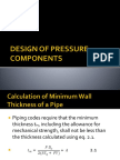 Design of Pressure Components