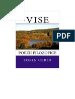 Vise: Poezii filosofice de Sorin Cerin (Romanian edition)