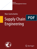 Supply Chain Engineering Marx Goetschalckx