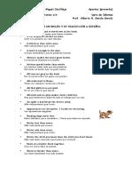 Refranes en Inglés y Su Traducción a Español