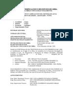 Acta de Verificacion y Recepcion de Obra