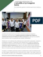 04-05-2018 Inaugura Héctor Astudillo El 50 Congreso Nacional de Pediatría.