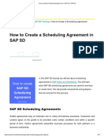 How to Create a Scheduling Agreement in SAP SD - ERProof