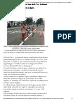 14-05-2018 Felicita Héctor Astudillo Al Atleta Omar de La Cruz Al Obtener Segundo Lugar en Medio Maratón en Japón.
