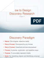 COM 308 - Chapter 11 - Design Discovery Research