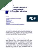 Lewis Focus Groups Interviewing