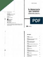 Pucciarelli-la Democracia Que Tenemos