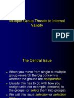 Multiple Group Threats to Internal Validity
