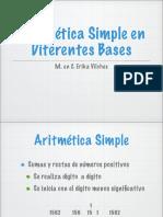 Aritmetica Simple en Diferentes Bases