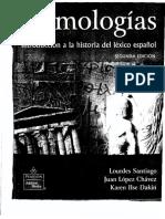 Etimologias. Introducción a la historia del léxico español (Pearson)