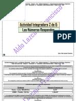 Actividad Integradora 2 de 6 - Los Números Responden - Módulo 11 - Prepa en línea - SEP México.