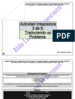 Actividad Integradora 3 de 6 - Traduciendo un Problema - Módulo 11 - Prepa en línea - SEP.