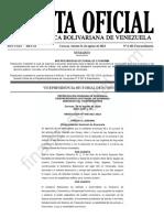 Gaceta Oficial Extraordinaria 6401