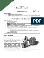 FICHA de LECTURA - Características de La Democracia 4S