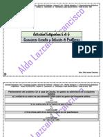 Actividad Integradora 6 de 6 - Ecuaciones Lineales y Solución de Problemas - Módulo 11 - Prepa en línea - SEP