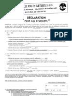 Declaration Etudiant Internet