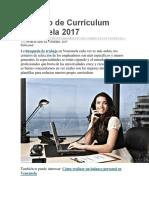 Formato de Currículum Venezuela 2017