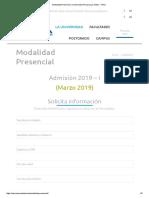 Modalidad Presencial _ Universidad Peruana Los Andes - UPLA
