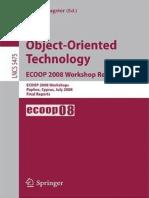 Object-Oriented Technology, ECOOP 2008 Workshop Reader, ECOOP 2008 Workshops(LNCS5475, Springer, 2009)(ISBN 9783642020469)(123s)_CsLn