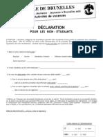 Declaration Non Etudiant Internet