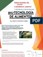 Capitulo i Historia de La Biotecnologia