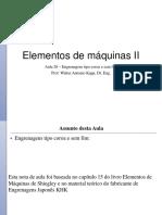 Elementos de máquinas II -Aula 26 170622 - Engrenagens tipo coroa e sem fim.pptx