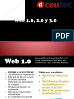 Comercio Electronico Web 1.0, 2.0, 3.0