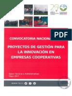 Bases Proyectos de Gestión Para La Innovación en Empresas Cooperativas 2017