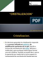 TEMA 01.- Cristalizacion N